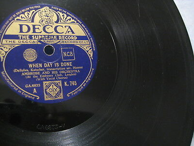 """12"""" - Ambrose Orch w. Vocal: Walt Disney's Silly Symphonies/ Day  Done - 1935 UK"""