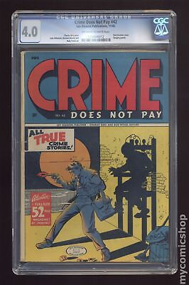 Crime Does Not Pay (1942) #42 CGC 4.0 1258846012