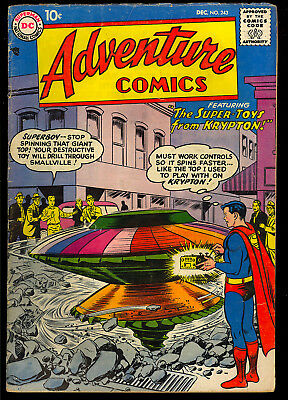 Adventure Comics #243 Nice Early Silver Age Superboy DC Comic 1957 VG
