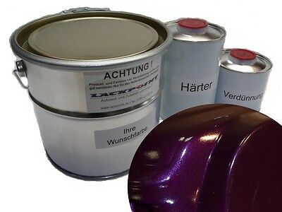 7 Liter Set 2K Car Paint Dark Violet Metallic + LACQUE & Dilution Trend Paint