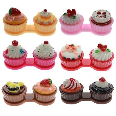 Cute Ice Cream Cake Travel Contact Lenses Colors Box for Eyes Care Kit Holder