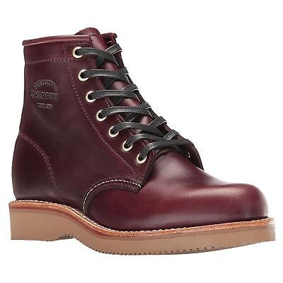 Chippewa 1901W23 Wine Womens Leather Ankle Boots