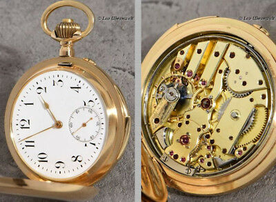 Rare 14K Gold Minute Repeater With An Excentric Mounted Minute Scale Around 1890
