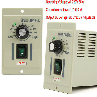 AC 220V 50Hz Motor Speed Control Controller For DC 220V 500W Motors Adjustable