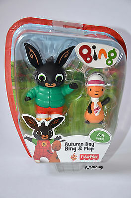 Fisher-Price Bing Bunny Figure - Autumn Day Bing & Flop - New