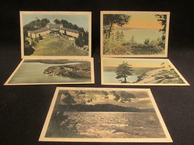 Muskoka Lake Rousseau, Lookout Mountain, Hotel, Moonlight, 7 Vintage Postcards