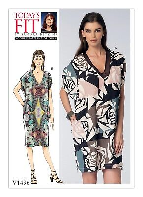 Vogue Easy SEWING PATTERN V1496 Misses Cocoon Dress Sizes A To J