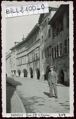 Annecy . rue Ste-Claire . photo ancienne . 1937