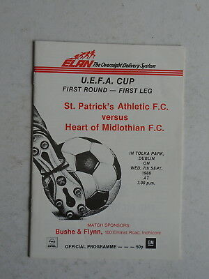 St Patrick's Athletic v Hearts 1988/89 UEFA Cup