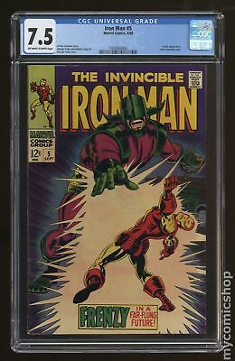 Iron Man (1968 1st Series) #5 CGC 7.5 1334064006