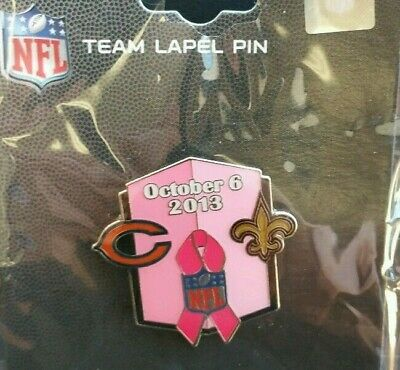 New Orleans Saints VS Chicago Bears GAME DAY PIN 10/06/13 NFL PIN Free Shipping