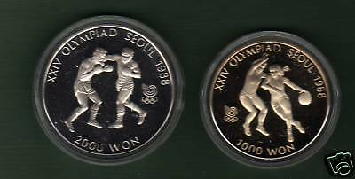 Korea 1988  Olympic  Proof  Boxing &basket Ball