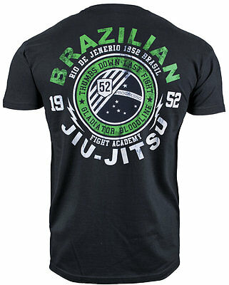 "T-Shirt Mma Brazilian Jiu Jitsu ""gladiator Bloodline 1952 Brazil"" Cotton"