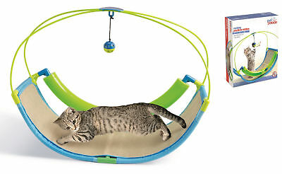 Pet Parade Cat Ball Swing Play Station Rocking Toy Pet Entertainment Scratch Pad