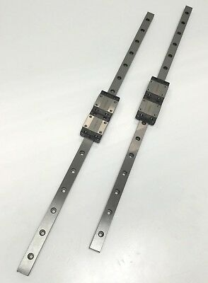 Lot of 4 THK SRS12M Linear Motion Ball Bearing Carriages on 410mm Guide Rails