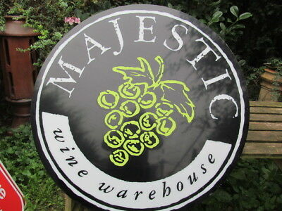 Large Reclaimed Perspex Majestic Wine Warehouse  Sign. Vgc. Man Cave / Shed