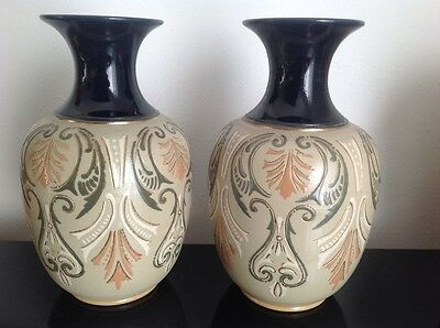 Lovatt, Langley, Pair Of Vases, Antique
