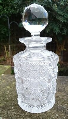 Antique Continental French Baccarat Brilliant Cut Glass Scent Bottle / Flacon