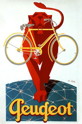 Bike Bicycle Aiglon Lady on Cycle France Vintage Poster Reproduction FREE S//H