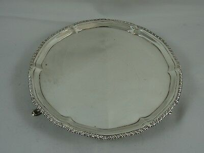 SMART GEORGE III silver SALVER, 1778, 265gm
