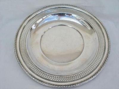 Cartier Sterling Silver 9 3/4 inch Dish of Fine Quality & Elegant Design.