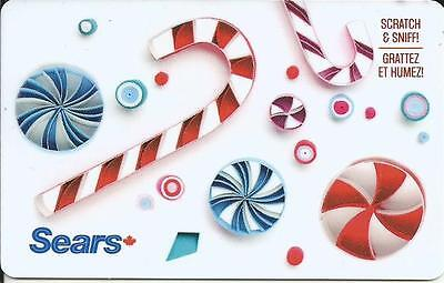 Scratch 'n Sniff Mint Gift Card From Sears Canada Bilingual No Cash Value