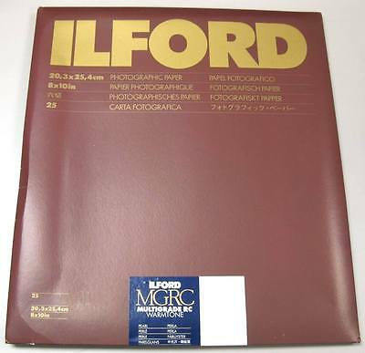 "Ilford Multigrade IV RC Warmtone 8"" x 10"" 25 sheets Black & White Pearl Paper"