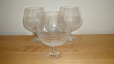 Galway Crystal Belleek Solace Brandy glasses x 3