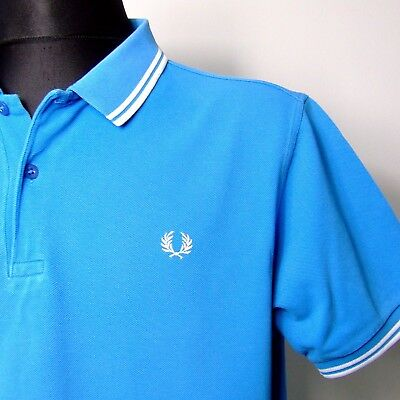 """Vtg FRED PERRY polo shirt INDIE XL extra large 46""""chest mod weller slim fit"""