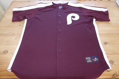 Philadelphia Phillies Cooperstown Baseball Mlb Jersey Shirt Top 2Xl Xxlarge