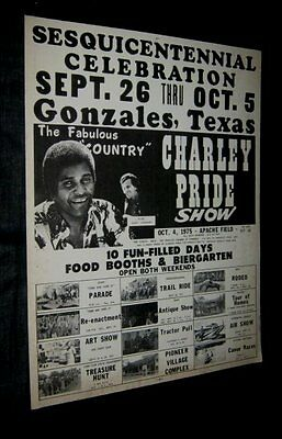 COLORCRAFT 1975 CHARLEY PRIDE SHOW GONZALES TEXAS 150 Year Celebration