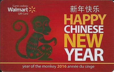New Year Of The Monkey 2016 Mint Gift Card From Walmart Canada Bilingual