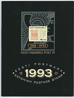 Estonian Stamps 1993 Year Pack