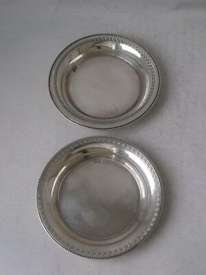 2 Similar Egyptian Solid Silver Pin Dishes/ Dia 7.5 cm/ 58 g
