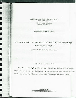 Hydrology and Water Resources of Oregon - 3 books by US Geological Survey