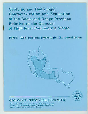 Radioactive Waste Disposal - 7 books by US Geological Survey