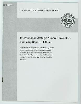 Strategic Minerals Reports, by US Geological Survey (8 USGS  paperbacks)