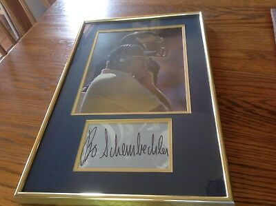Bo Schembechler Michigan Football Coach Photo & Signed Cut Matted & Framed