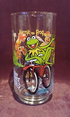 The Great Muppet Caper - Kermit Frog, Fozzy Bear, Animal McDonald's Glass Cup