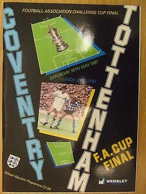 COVENTRY v SPURS : 1987 FA CUP FINAL PROGRAMME: FREE GIFT SUPERB CONDITION: LOOK