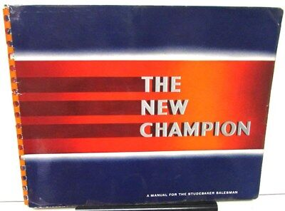 1939 Studebaker Dealer Album The New Champion Models Large Features Options