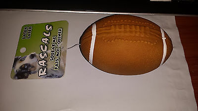 "Coastal Rascals Brown Mini Latex 4"" Football Dog Toy. Free Shipping To The Usa"
