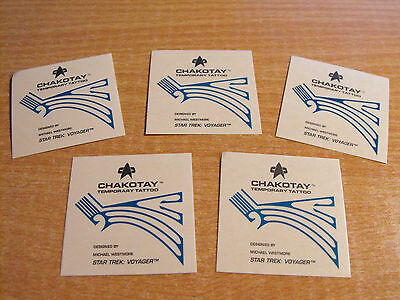 Star Trek Voyager Season 1 Series 2 Lot Of 5 Temporary Tattoos