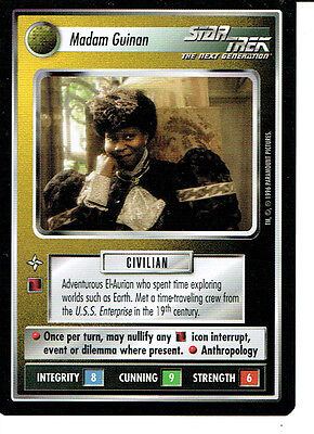 Star Trek Ccg Q Continuum Rare Card Madam Guinan