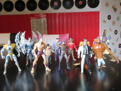 Lot Of 11 Dc Comics Action Figures Kenner 1993-1998
