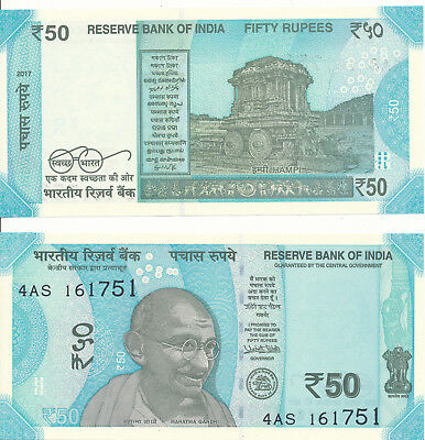 Indien / India - 50 Rupees 2017 (no letter) UNC - Pick New, new design