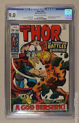 Thor (1962-1996 1st Series Journey Into Mystery) #166 CGC 9.0 0227669001