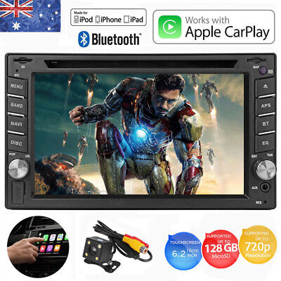 "6.2"" Apple iPhone Car Play 2DIN Receiver Bluetooth Car Stereo MP3 MP4 Player AU"