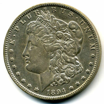 RARE 1894 O AU Morgan Silver Dollar About Uncirculated Coin LOW MINTAGE U.S#3503