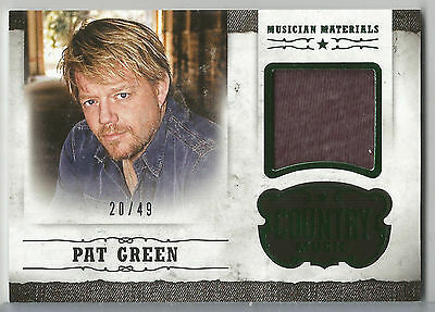2015 Panini Country Music Pat Green Musician Materials Relic #M-PG #/49